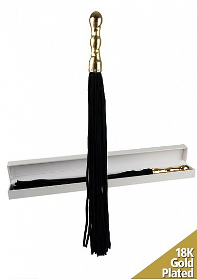 """Плетка Luxury Whip 18k-Gold plated Black SH-OULM003"""