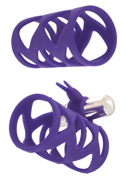 """НасадкаTICKLER BUNNY SLEEVE SET PURPLE 10249TJ"""