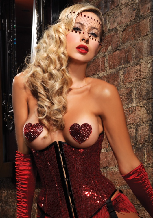 Пэстисы Heart Pasties OS LA2118red