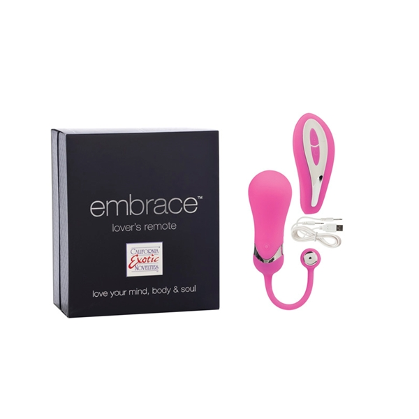 Виброяйцо EMBRACE LOVERS REMOTE PINK 4605-05BXSE