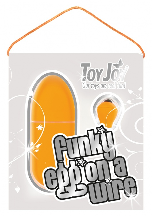 """Виброяйцо FUNKY EGG ON A WIRE ORANGE 10021TJ"""