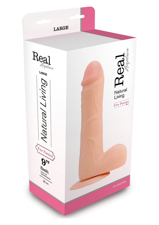 Фаллоимитатор DILDO REAL RAPTURE FLESH 9 INCH T4L-00700685