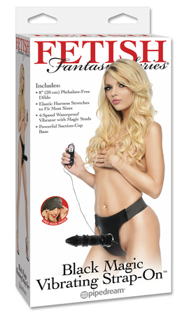 """Страпон FF BLACK MAGIC VIBRO BLACK 392202PD"""